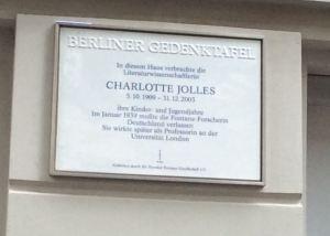 Memorial Plaque for Charlotte Jolles in Berlin